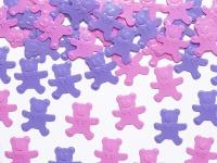 Teddy Bär Konfetti Violett und Rosa