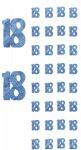 18. Geburtstag Glitzer Girlanden Blau