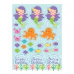 4 Sticker Bogen kleine Meerjungfrau