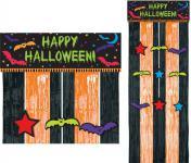Halloween Party Lametta Türvorhang Fledermaus