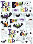 4 Bogen Halloween Sticker