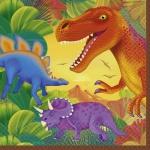 16 Dinosaurier Servietten