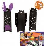 8 Halloween Besteck oder Süßigkeiten Taschen Fledermaus