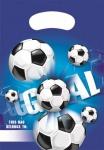 6 Party Tüten Fußball blau