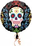 Halloween Folienballon Day of the Dead Totenkopf