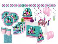 XXL 60 Teile Beauty Makeup Spa Topmodel Basis Party Deko Set für 8 Personen