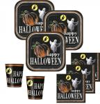 52 Teile Halloween Deko Set Kürbis Geister 16 Kinder