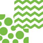 16 Servietten Zickzack Punkte Limonen Grün