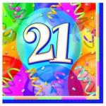 21. Geburtstag Party Servietten