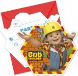 6 Einladungskarten Bob der Baumeister