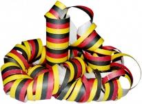 Luftschlangen Schwarz Rot Gelb