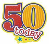 50. Geburtstag Anstecker