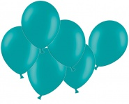 10 Luftballons Türkis