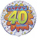 Geburtstags Folien Ballon zum 40.