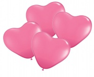 4 Herz Ballons in Pink
