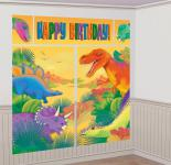 Wand Poster Dinosaurier Party