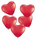 25 Herz Ballons Rot