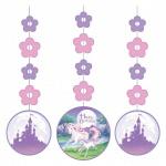 rosa Einhorn 3 hängende Girlanden