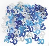30. Geburtstag Deko Konfetti Blau
