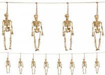 Skelett Girlande 10 Meter