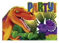 8 Einladungskarten Dinosaurier