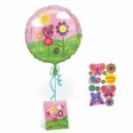 Sticker Ballon Blumenwiese