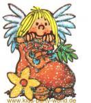 Mini Glitter Sticker Engel mit Geschenken