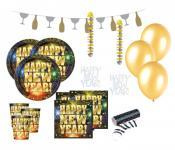52 Teile Silvester Party Deko Set für 8 Personen - Happy New Year