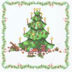20 Weihnachts Servietten Weihnachtsbaum
