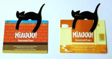 Schwarze Katze Lesezeichen