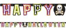 Happy Halloween Girlande Totenkopf