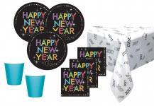 33 Teile Silvester und Neujahrs Party Deko Set 8 Personen