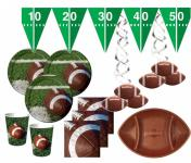 XXL 54 Teile Football Superbowl Party Deko Set 16 Personen
