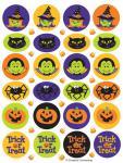 4 Sticker Bogen Halloween