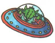 Mini Tattoo Alien UFO