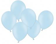 10 Luftballons Pastell Blau