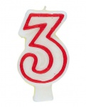 Drei Zahlenkerze