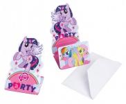 8 Einladungskarten My little Pony Rainbow