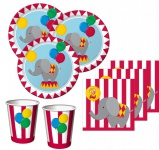 48 Teile 2. Geburtstag Zirkus Party Set 16 Personen