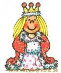 Mini Glitter Sticker Eis Prinzessin