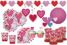 77 Teile Valentinstags Herzchen Deko Set 8 Personen Herzen Valentinstag