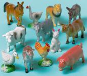 12 kleine Bauernhof Tiere