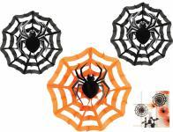 3 Dekofächer Spinnennetz mit Spinne