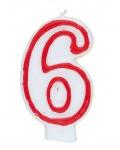 Sechs Zahlenkerze