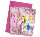 6 Einladungskarten Disney Princess Animals