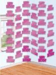Geburtstag Tür und Wand Dekoration rosa