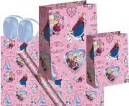 Frozen die Eiskönigin Geschenk Verpackung Set Rosa - Anna, Elsa, Olaf - Geschenkpapier, Geschenktasche, Geschenkband - Weihnachten