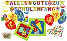 Girlande + Luftballons + Konfetti zum Schulanfang