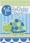 8 Erster Geburtstag Schildkröte Einladungskarten