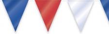 Wimpelgirlande Blau Weiss Rot 10 Meter